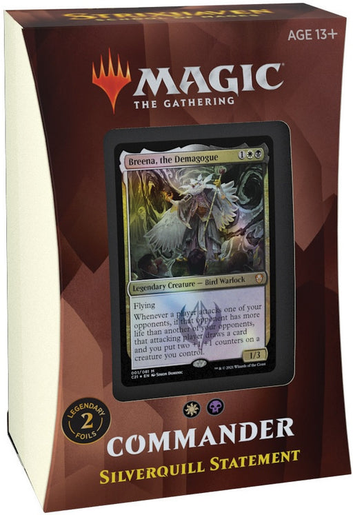 Magic the Gathering Strixhaven School of Mages Commander Deck Silverquill Statement Pre Order