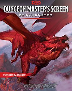 D&D Dungeon Masters Screen Reincarnated 5th Ed