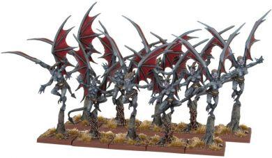 Kings of War - Abyssal Dwarf Gargoyles Half-Regiment (10 Figures)