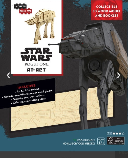 Incredibuilds Star Wars AT ACT 3D Wood Model and Book