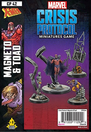 Marvel Crisis Protocol Magneto and Toad