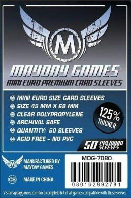 Mayday Games Mini Euro Card Sleeves 45x68mm Premium (50)