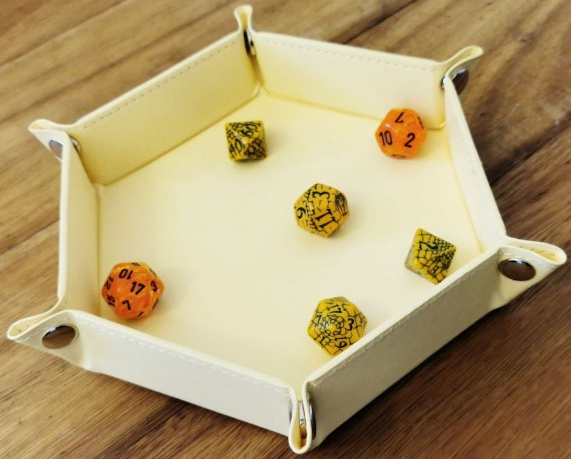 "LPG Hex Dice Tray 6"" Yellow"