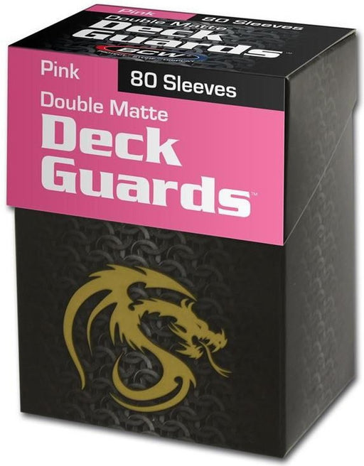 BCW Deck Guard - Matte - 80 Boxed - Pink