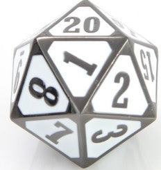 Die Hard Dice Metal MTG Roll Down Counter - Sinister White (Single)