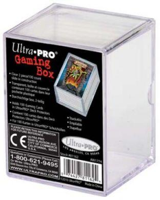 Ultra Pro 2 Piece Card Box - Clear (100ct)