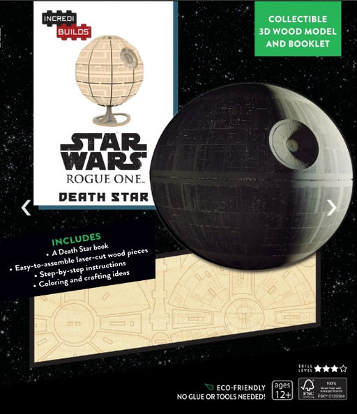 Incredibuilds Star Wars Rogue One Death Star 3D Wood Model and Book