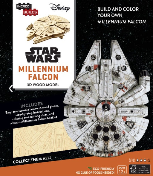Incredibuilds Star Wars Millennium Falcon 3D Wood Model