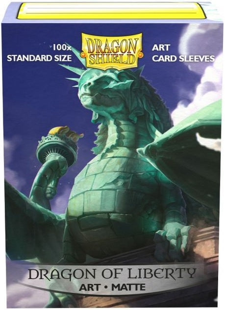 Dragon Shield Sleeves Box 100 MATTE Art Dragon of Liberty