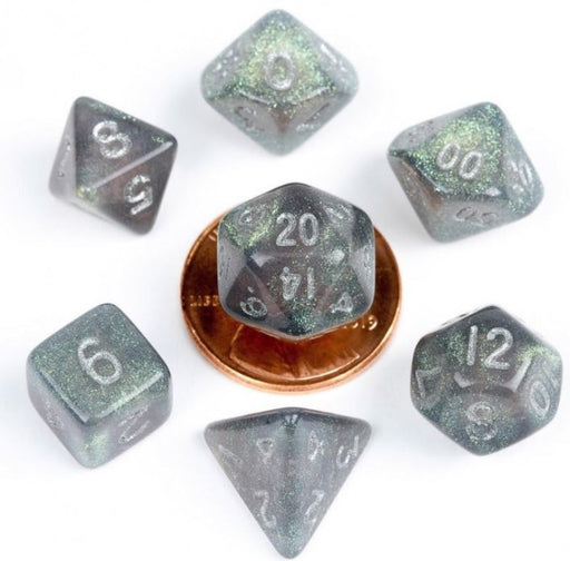 MDG Acrylic 10mm Polyhedral Dice Set - Stardust Gray