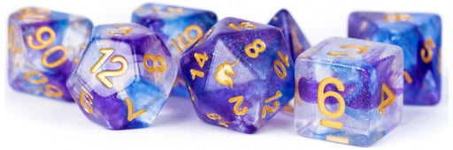 MDG Unicorn Resin Polyhedral Dice Set Midnight Fantasy