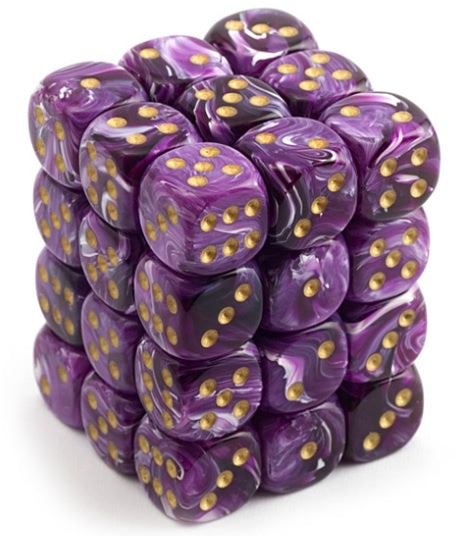 Vortex Purple/Gold 36d6 Dice Set