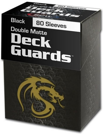 BCW Deck Guard - Matte - 80 Boxed - Black