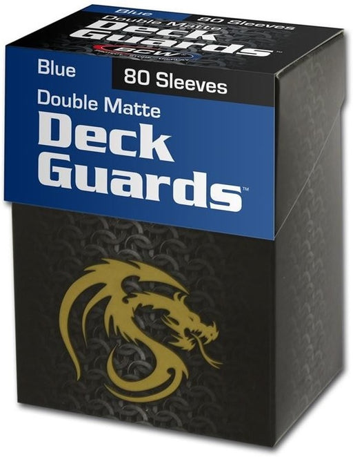 BCW Deck Guard - Matte - 80 Boxed - Blue