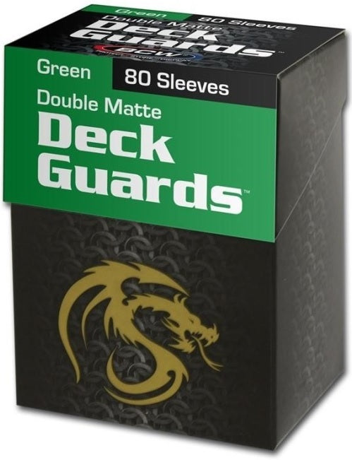 BCW Deck Guard - Matte - 80 Boxed - Green