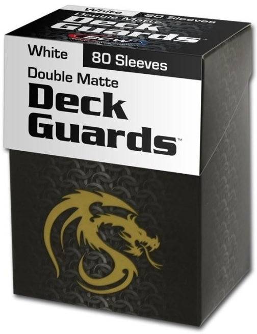 BCW Deck Guard - Matte - 80 Boxed - White