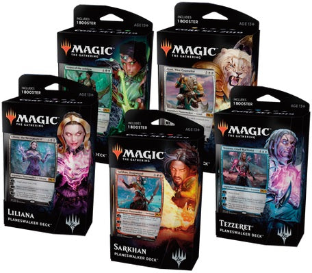 Magic the Gathering: Core Set 2019 Planeswalker Deck Set of 5