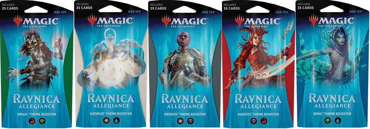 Magic the Gathering: Ravnica Allegiance Theme Booster Set of 5