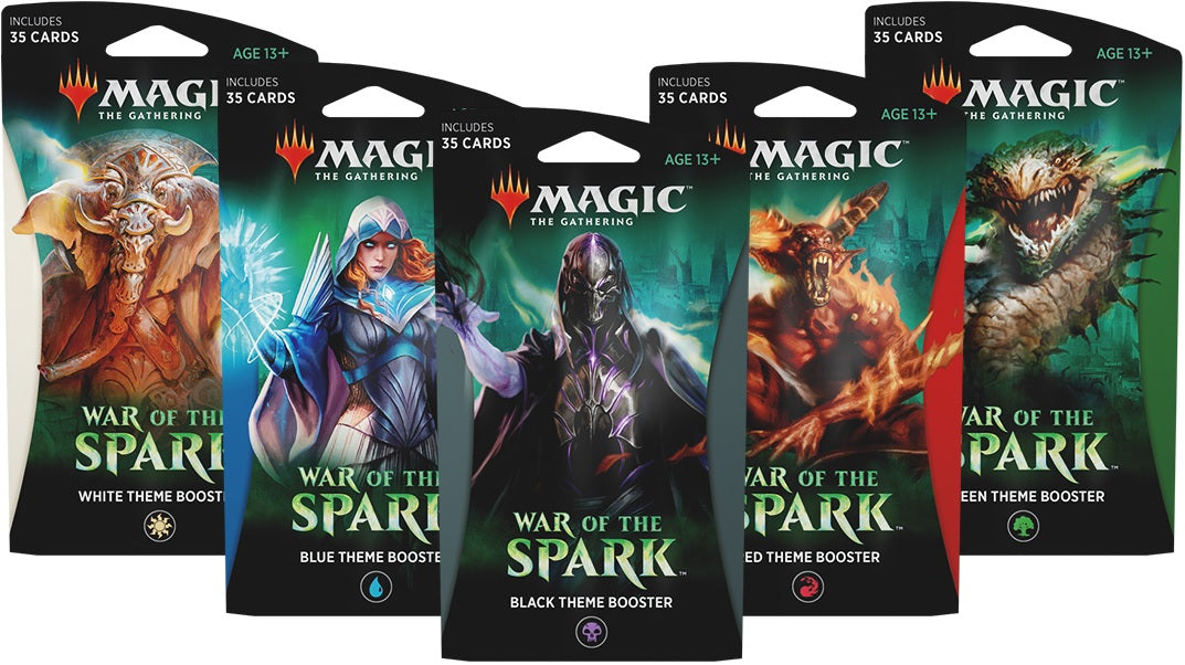Magic the Gathering: War of the Spark Theme Booster Set of 5