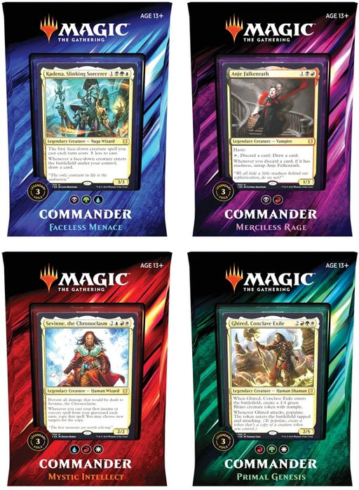 Magic the Gathering: Commander 2019 Set Of 4