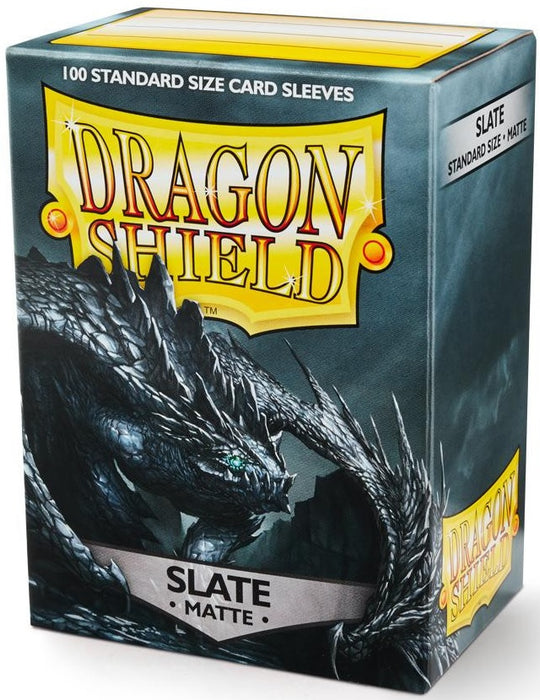 Dragon Shield 100 Count Standard Matte Sleeve: Slate