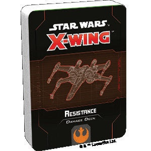 Star Wars X-Wing 2nd Edition Resistance Damage Deck