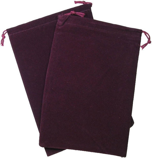 Dice Bag Suedecloth Large Burgundy