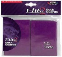 BCW Deck Protectors Standard Elite2 Matte Mulberry  (100 Sleeves Per Pack)