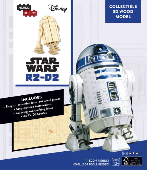 Incredibuilds Star Wars R2D2 3D Wood Model