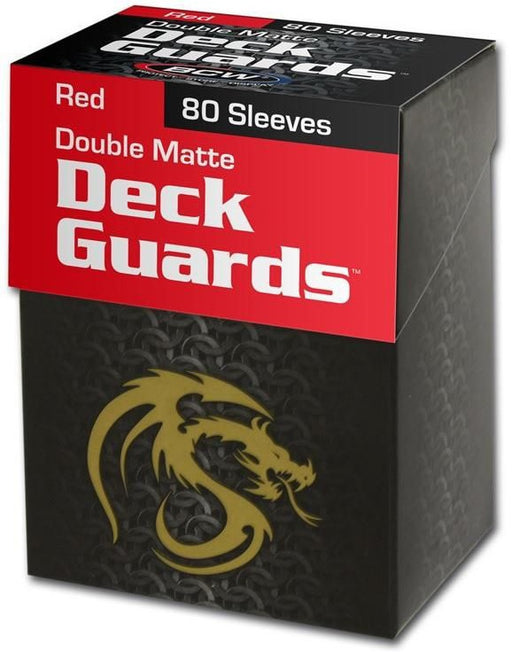 BCW Deck Guard - Matte - 80 Boxed - Red
