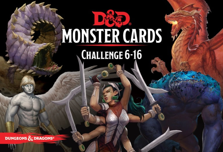 D&D Spellbook Cards: Monster Deck 6-16 (74 cards)