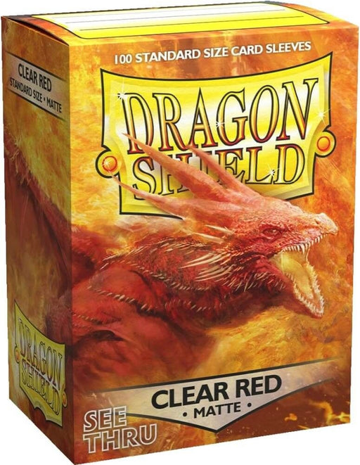 Dragon Shield Sleeves Box 100 Matte Clear Red