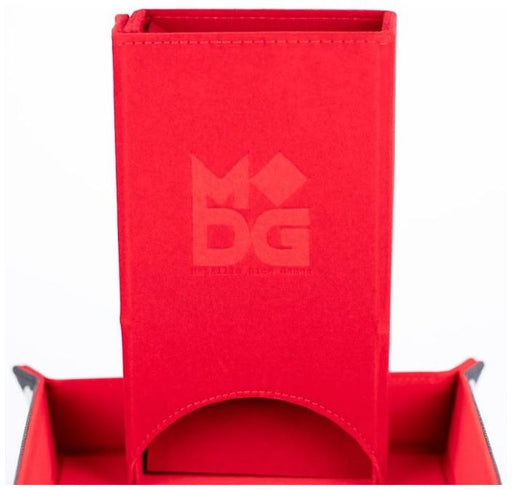 MDG Fold Up Velvet Dice Tower Red