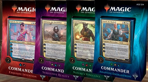 Magic the Gathering: Commander 2018 Set Of 4