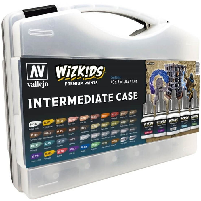 Wizkids Premium Paint Set by Vallejo Intermediate Case