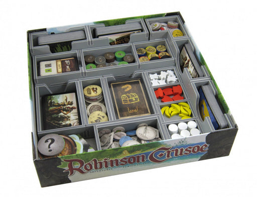 Folded Space Game Inserts Robinson Crusoe