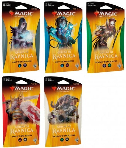 Magic the Gathering: Guilds of Ravnica Theme Booster - Set of 5