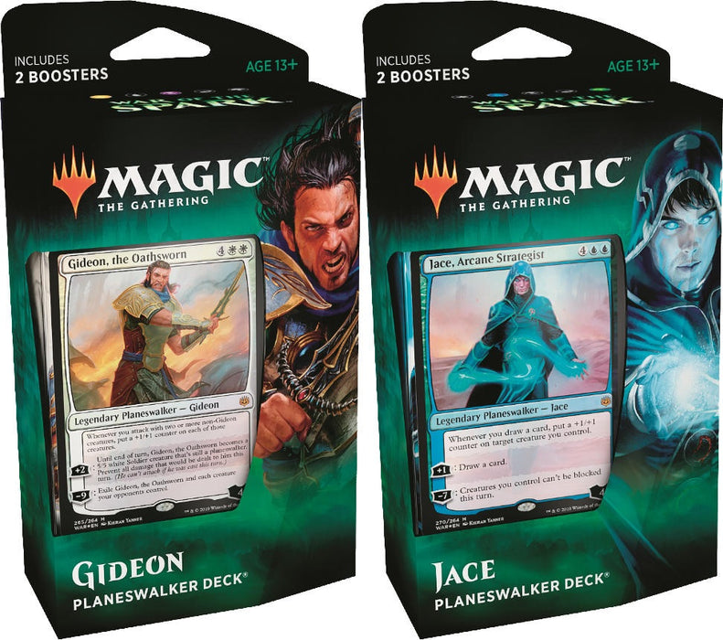 Magic the Gathering: War of the Spark Planeswalker Deck Set of 2