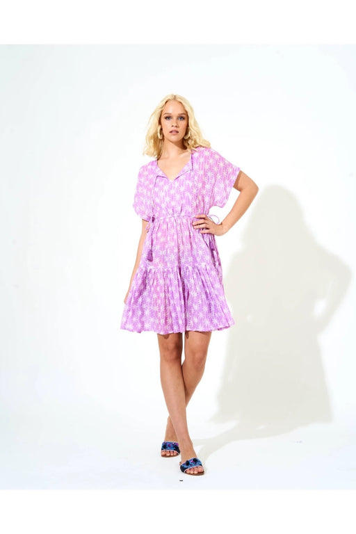 Side Tie Tassel Dress ~ Virgo Lilac