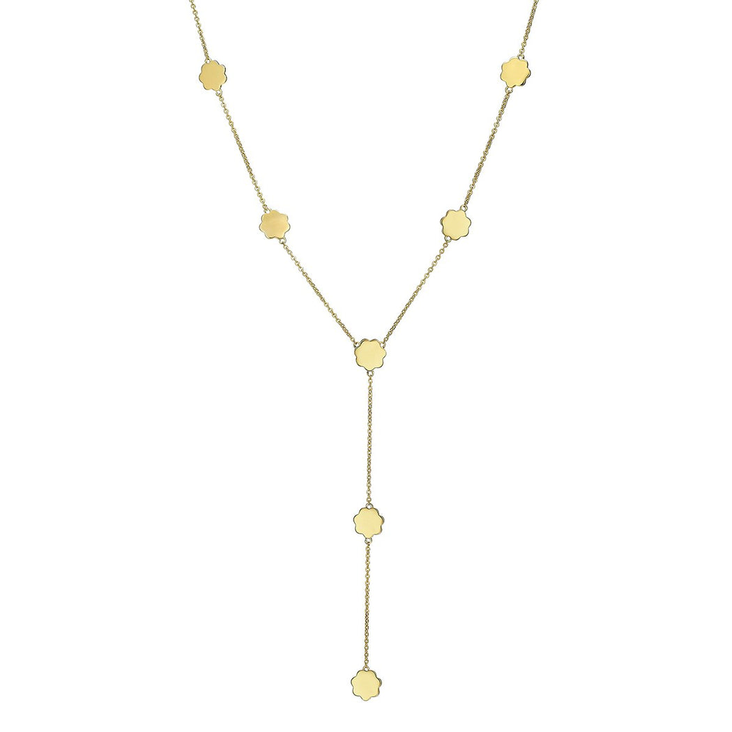 Gardenia Lariat Necklace