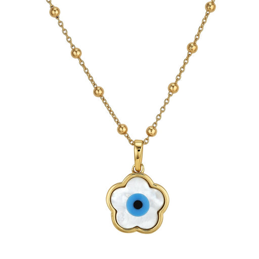 Blue Flower Evil Eye Charm