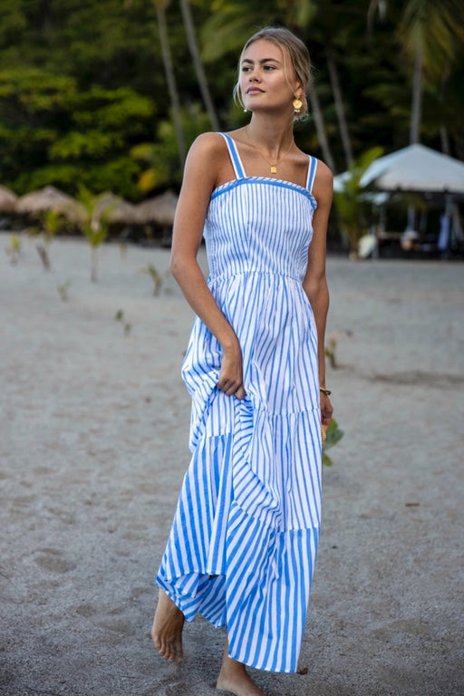 Betty Dress ~ Cornflower Stripe