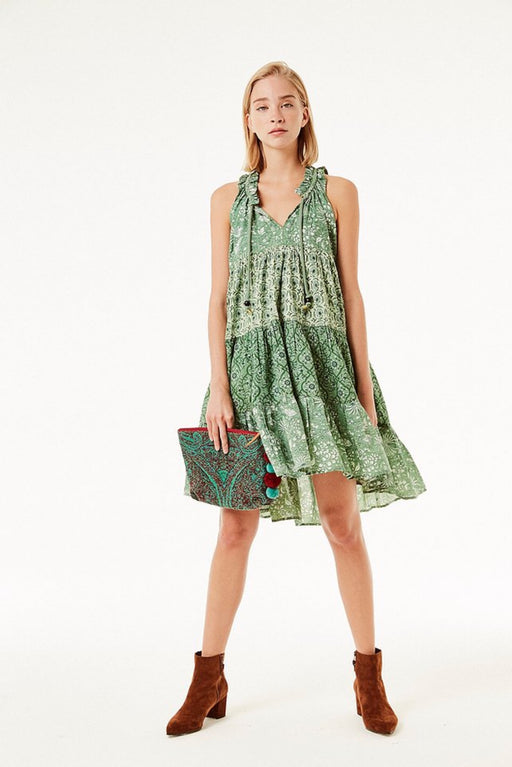 Sofia Short Ruffle Dress ~ Emerald