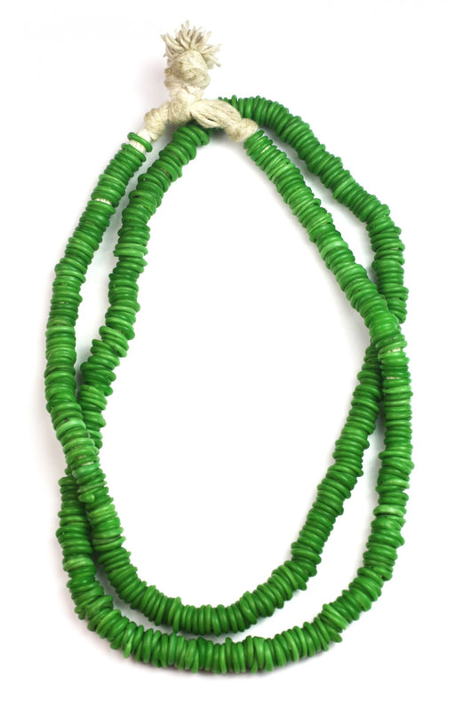 African Trade Beads ~ Kelly Green