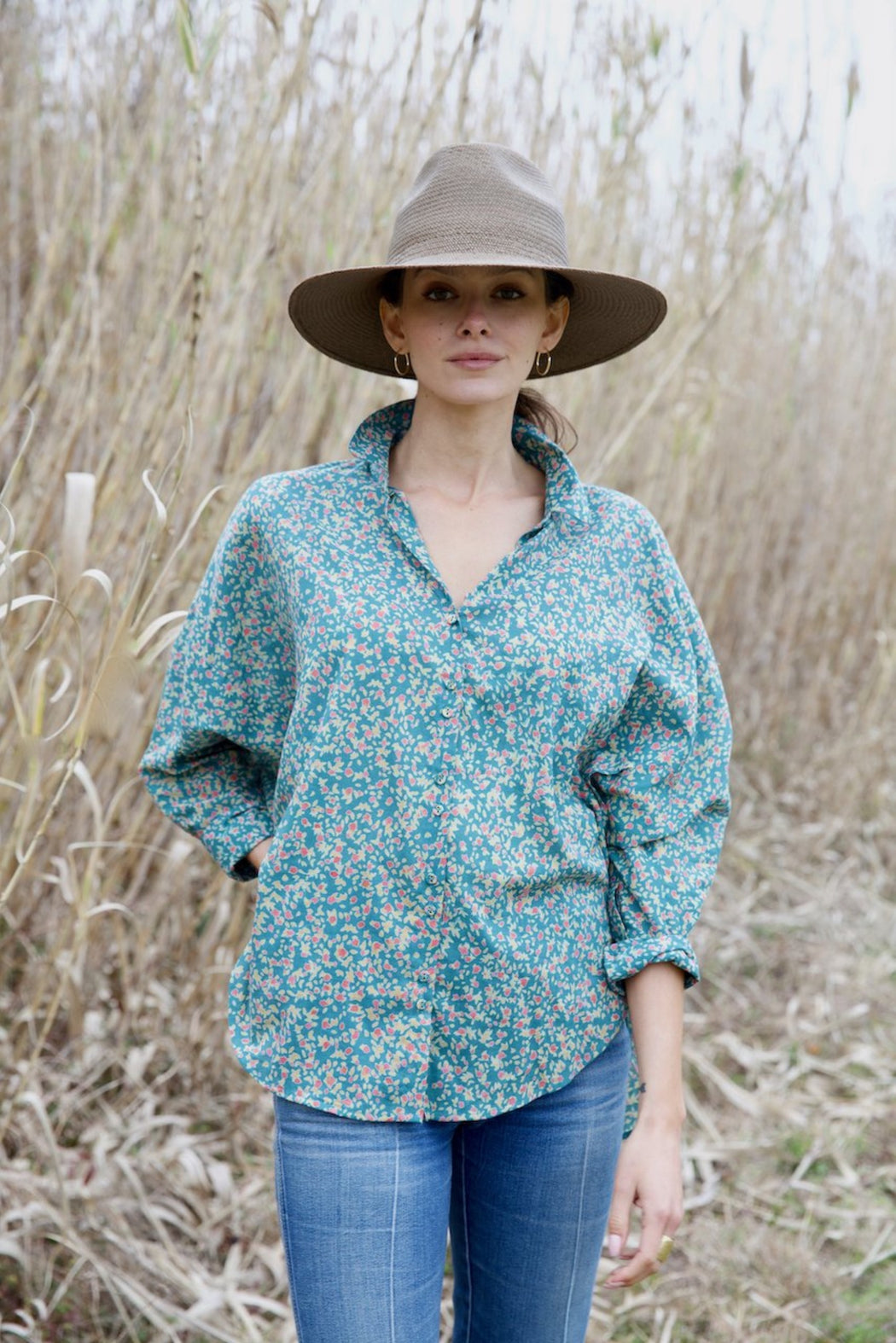 Kyoto Blouse ~ Juniper