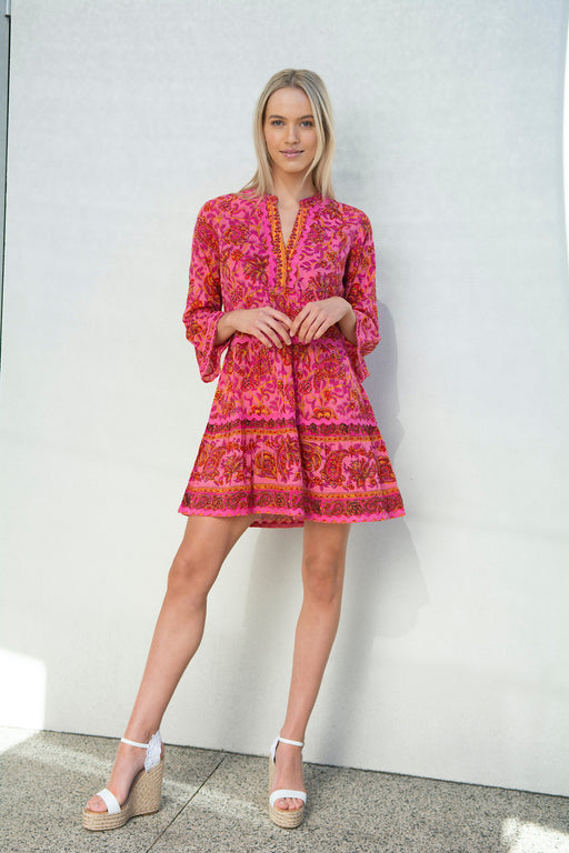 Morocco Mini Dress ~ Paisley Swirl