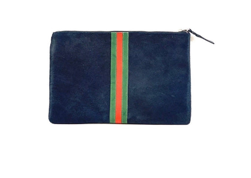 Striped Clutch ~ Navy