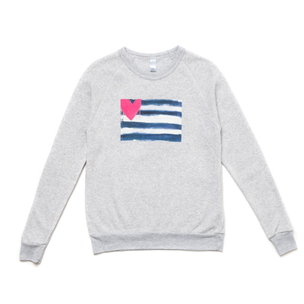 Hearts & Stripes Forever Gray Sweatshirt