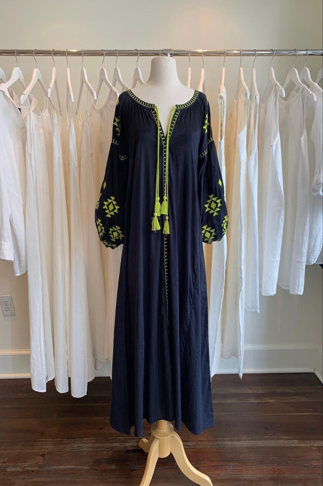 Sullivan Maxi Dress ~ Navy/Lime