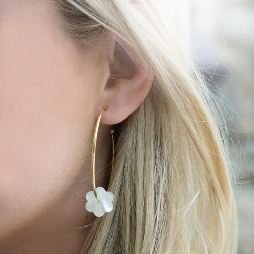 Flower Hoop-La Earring